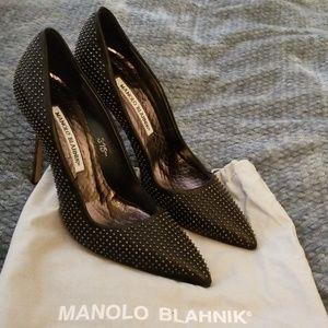 Studded Manolo Blahnik pumps